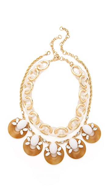 Lee By Lee Angel Double Layered Chain Necklace Set