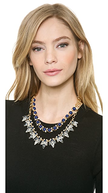 Lee By Lee Angel Crystal and Stone Necklace Set