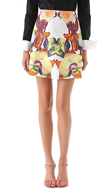 Josh Goot Flower Brocade A Line Skirt