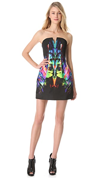 Josh Goot Rainbow Strapless Dress