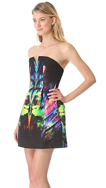 Josh Goot Rainbow Strapless Dress