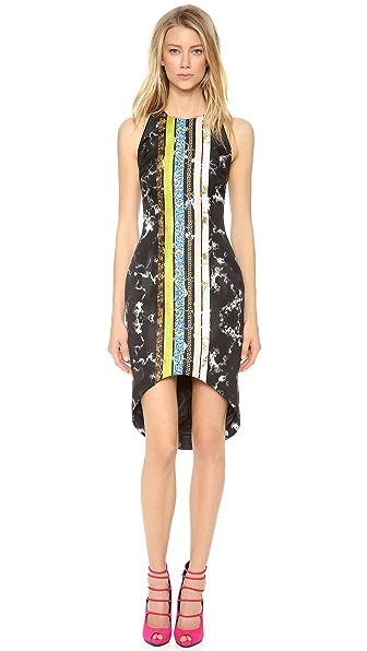 Josh Goot Tuxedo Stripe Cutaway Dress