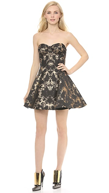 Josh Goot Panel Jacquard Corset Dress