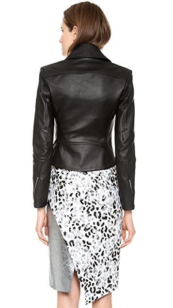 Josh Goot Leather Biker Jacket
