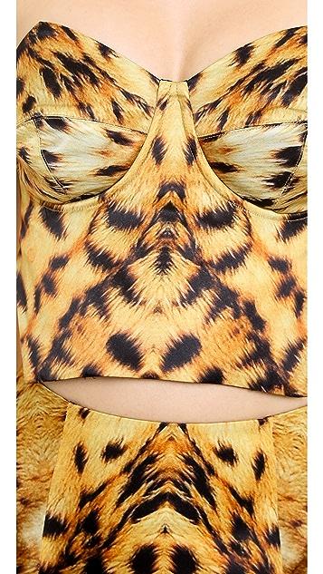 Josh Goot Leopard Bustier Top