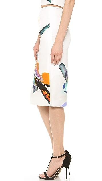 Josh Goot Orchid Pencil Skirt