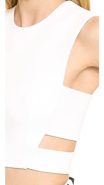 Josh Goot Cutout Harness Crop Top