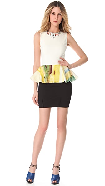 Julie Haus Novak Peplum Dress
