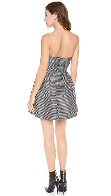Jill Jill Stuart Strapless Striped Dress