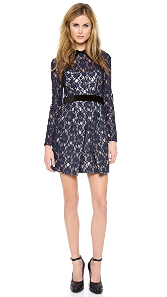 Jill Jill Stuart Long Sleeve Lace Dress