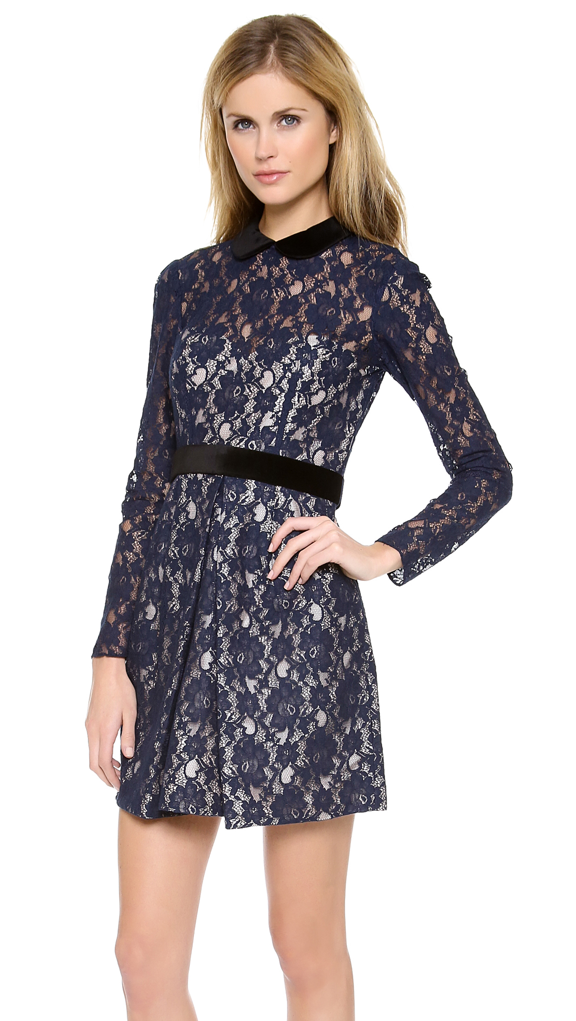 Long sleeved lace dresses