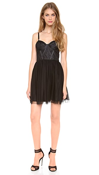 Jill Jill Stuart Point d'Esprit Bustier Dress