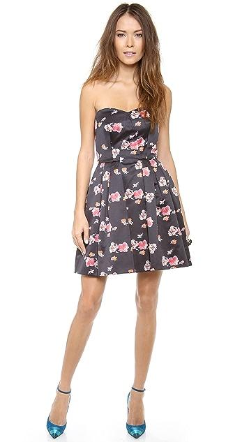 Jill Jill Stuart Floral Strapless Dress