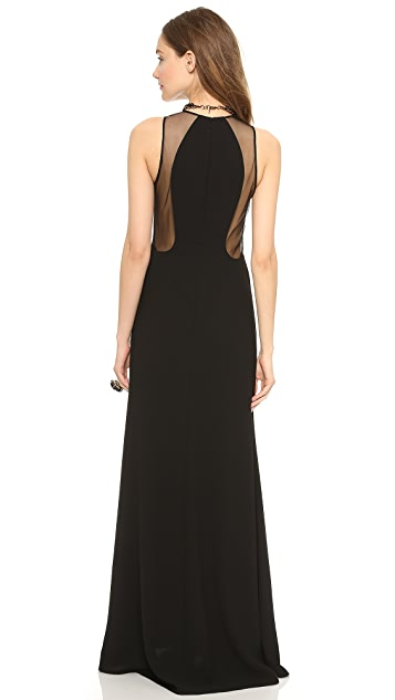 Jill Jill Stuart Mesh Cutout Gown