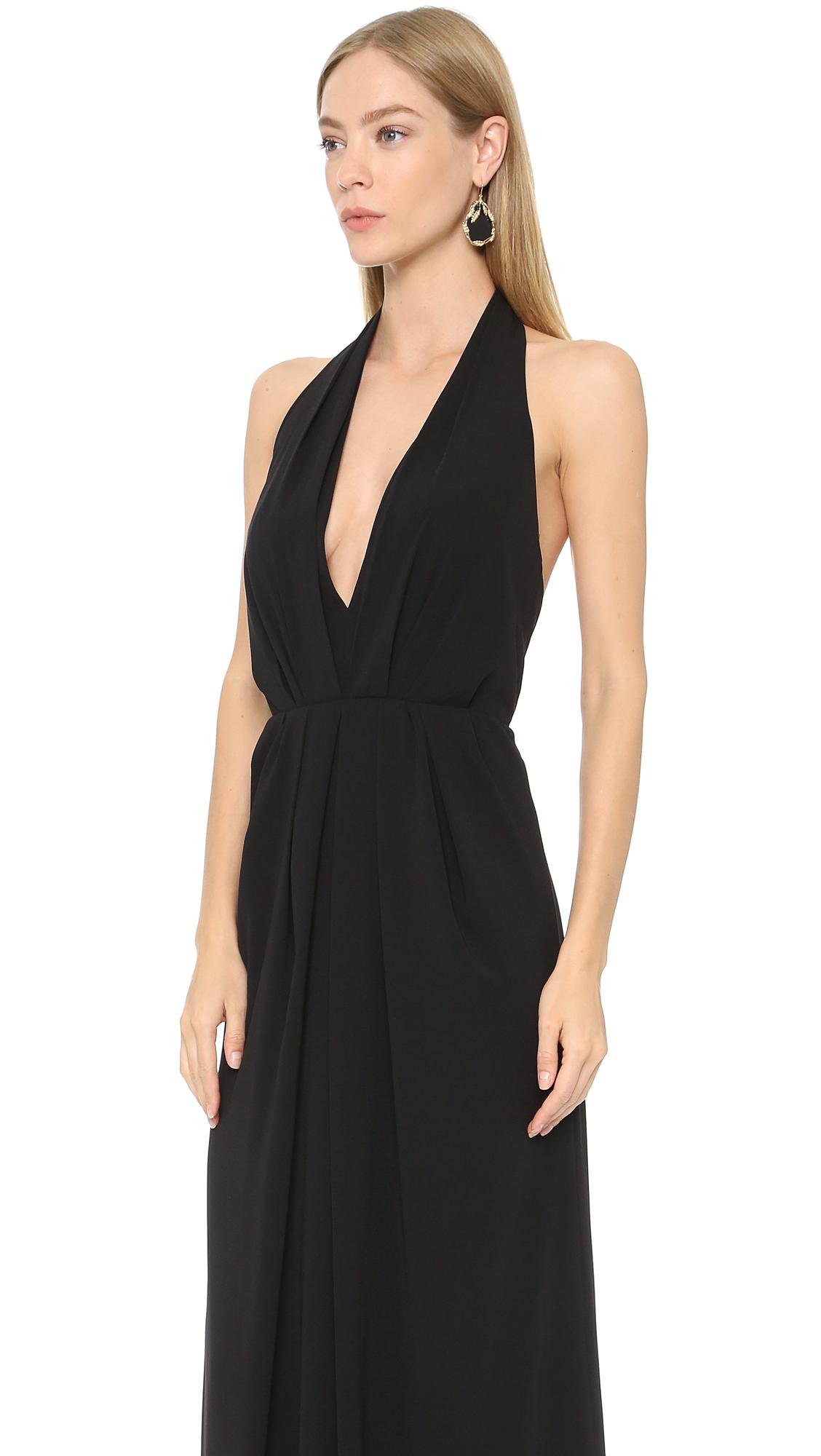 Jill Jill Stuart Deep V Halter Gown | SHOPBOP
