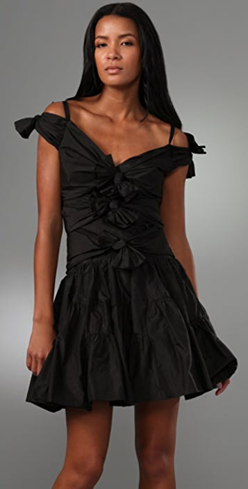 Jill Stuart Rochelle V Neck Bow Dress