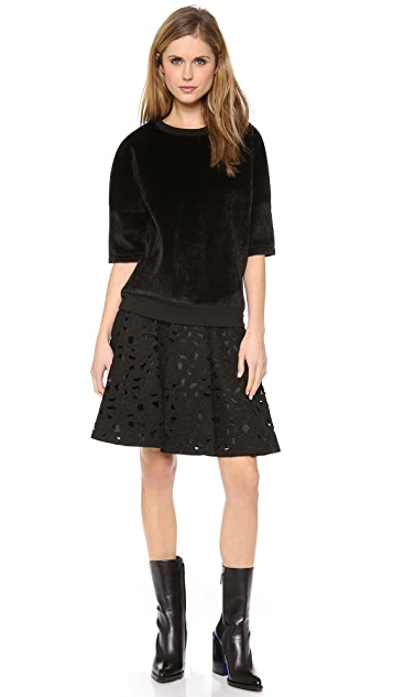 Jill Stuart Embroidered A Line Skirt