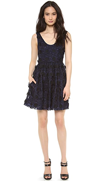 Jill Stuart Janice Silk Emroidered Dress