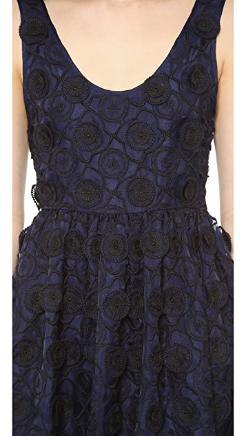 Jill Stuart Janice Silk Emroidered Dress
