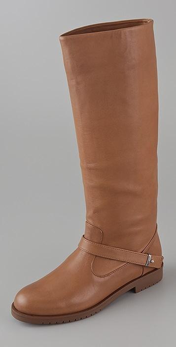 Jil Sander Navy Flat Lug Boots
