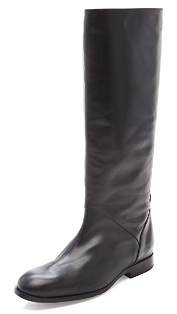 Jil Sander Navy Knee High Boots