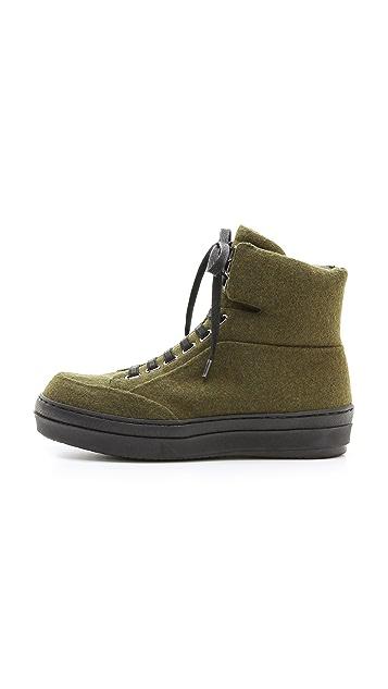 Jil Sander Navy Platform Sneakers