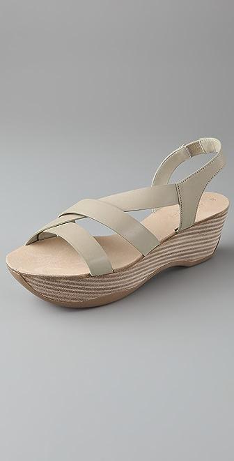 Jil Sander Diagonal Strap Flatform Sandals