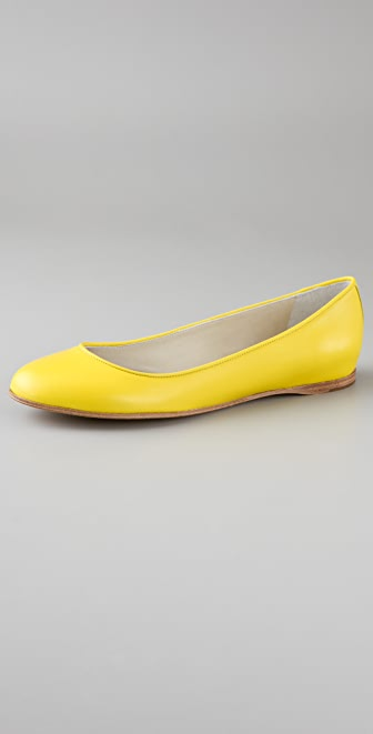 Jil Sander Leather Flats