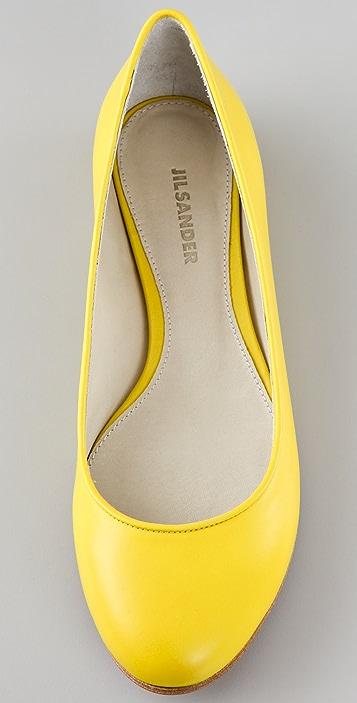 Jil Sander Leather Flats