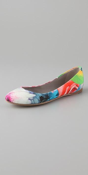 Jil Sander Floral Print Flats
