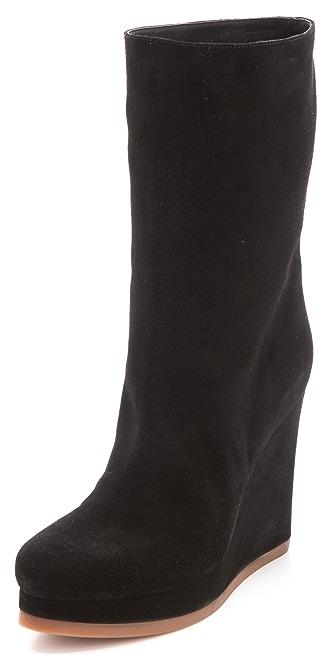 Jil Sander Suede Wedge Boots
