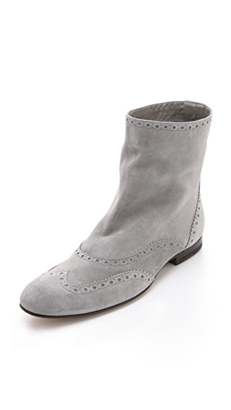 Jil Sander Grey Suede Booties