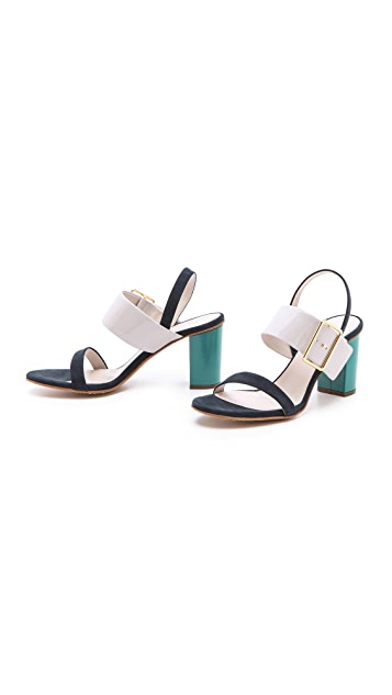 Jil Sander Multicolored Heeled Sandals