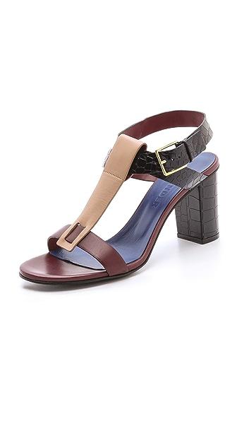 Jil Sander Ankle Strap Heeled Sandals