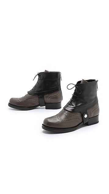 Jil Sander Leather Booties