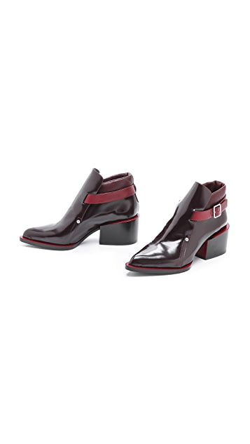 Jil Sander Side Buckle Booties