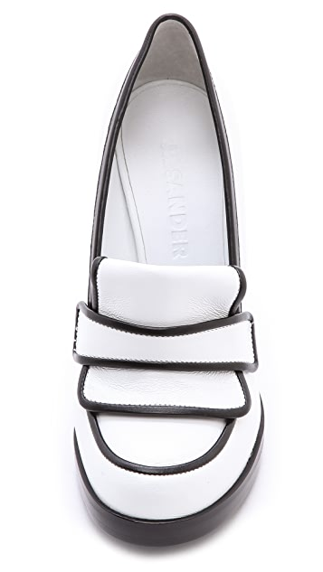 Jil Sander High Heeled Loafers