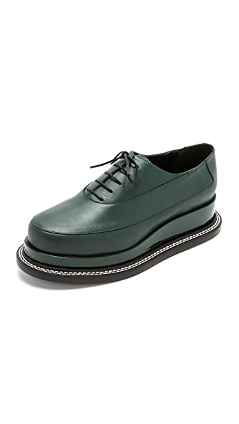 Jil Sander Platform Oxfords