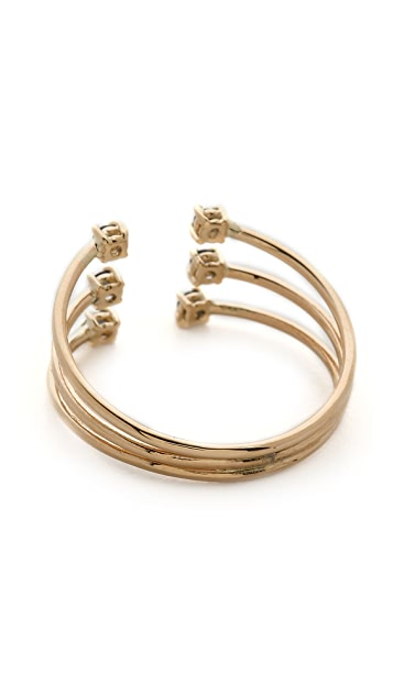 Jennie Kwon Designs Sapphire Cage Cuff Ring
