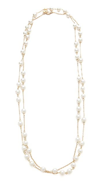 Juliet & Company Imitation Pearl Wrap Necklace