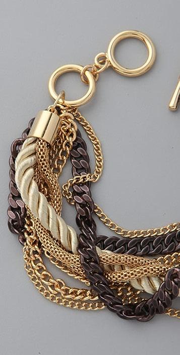 Juliet & Company Gold & Cognac Chains Bracelet