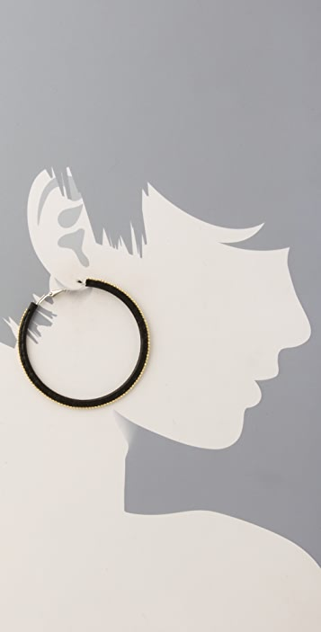 Juliet & Company Perle Hoop Earrings