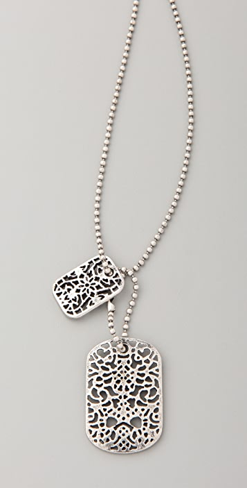 Juliet & Company Lace Dog Tag Necklace