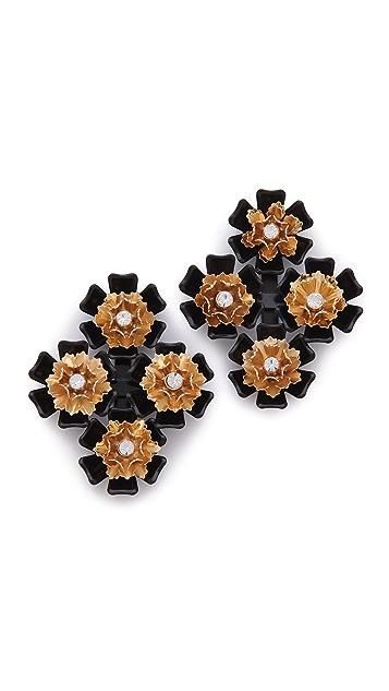 Juliet & Company Multi Fleur Earrings