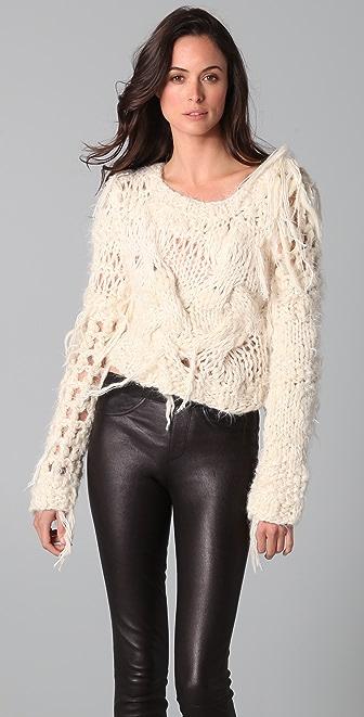 James Long Cropped Julia Sweater