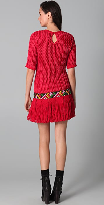James Long Long Embroidered Dress