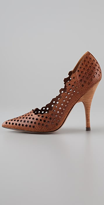 Jean-Michel Cazabat Iman Cutout Pumps