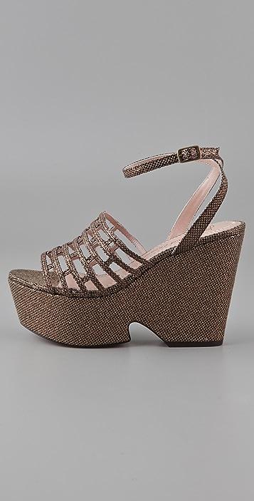 Jean-Michel Cazabat Bay Wedge Sandals
