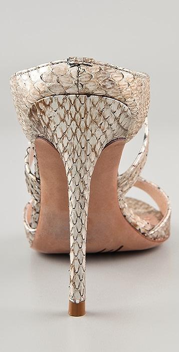 Jean-Michel Cazabat Orlanda Snakeskin Sandals