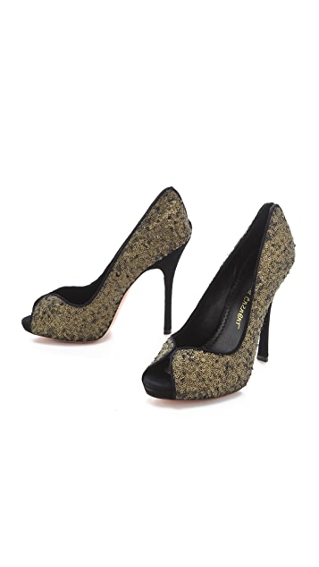 Jean-Michel Cazabat Opal Sequin Pumps